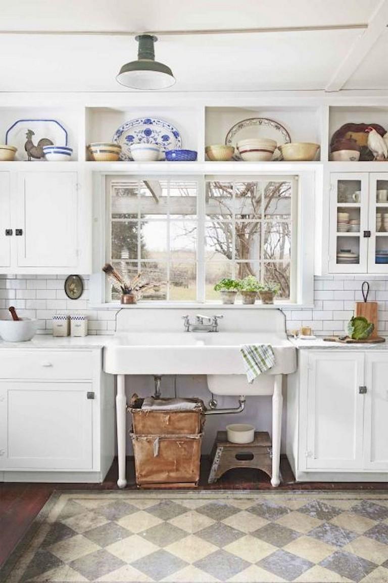45 Elegant Farmhouse Kitchen Furniture Ideas On A Budget